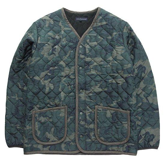 COOCHUCAMP(クーチューキャンプ) Happy Quilting Jacket (カーキ)(インナーダウン)