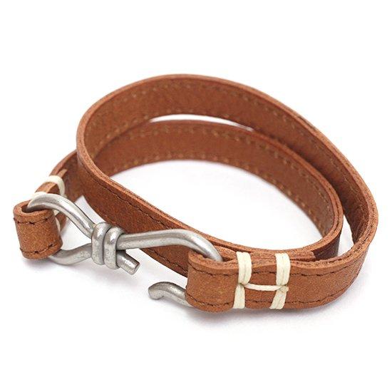 hobo(ホーボー) Brass Hook Bracelet (キャメル)(レザーブレスレット)
