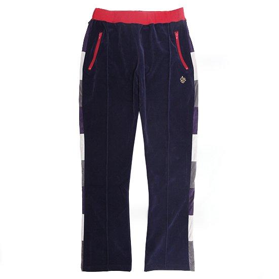 ALDIES(アールディーズ) Maple Track Pants (ネイビー)(トラックパンツ)(ベロアパンツ)