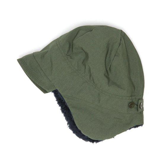 remilla(レミーラ) ボア帽 (オリーブグリン)(キッズサイズ)(耳あて付きキャップ)