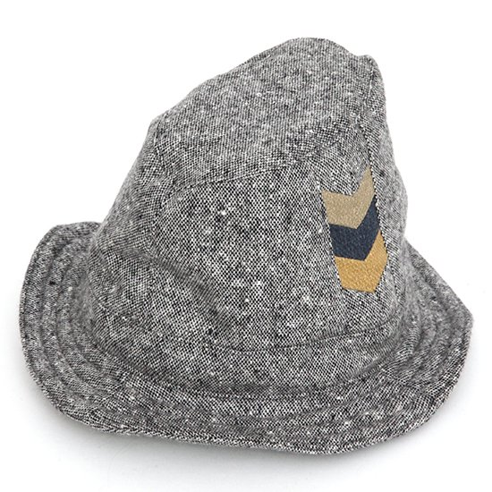 hug(ハグ) Wool HAT (チャコール)(ウールハット)(ハンドメイド)