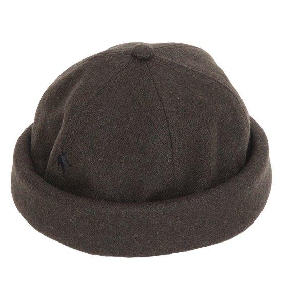 VOO(ヴォー) MELTON ROLL CAP (オリーブ)(ロールキャップ)