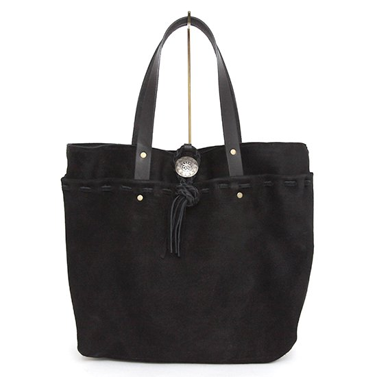 Early Morning(アーリーモーニング) SUEDE POCKET TOTE (ブラック)(スエード)