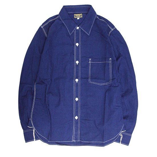 GO WEST(ゴーウェスト) OLD BLUE CHAMBRAY WORKERS SHIRTS (ワンウォッシュ)(ワーカーズシャツ)