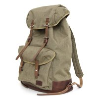 hobo(ホーボー) Nylon Polyester Canvas Backpack 29L with HORWEEN (モカ)(バックパック)
