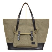hobo(ホーボー) Nylon Polyester Canvas Tote Bag L with HORWEEN (ブラック)(トートバッグ)