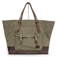 hobo(ホーボー) Nylon Polyester Canvas Tote Bag L with HORWEEN (モカ)(トートバッグ)