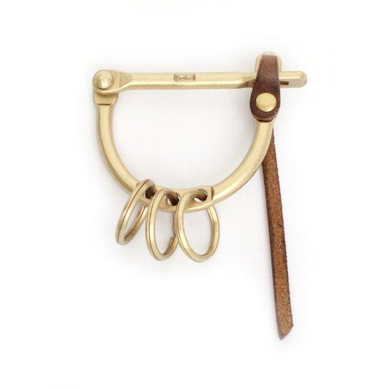 hobo(ホーボー) Brass Carabiner L with HORWEEN (ブラス)(カラビナ)(キーホルダー)