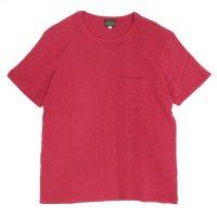 GO HEMP(ゴーヘンプ) SUN GLOW PK TEE H/C THERMAL (ブラッドレッド)(Tシャツ)(サーマル)