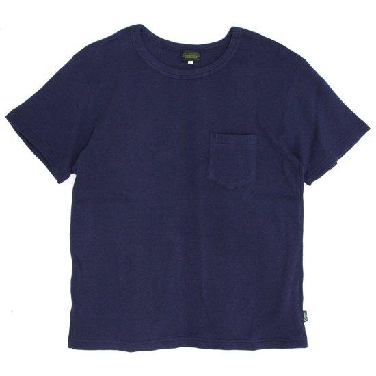 GO HEMP(ゴーヘンプ) SUN GLOW PK TEE H/C THERMAL (ミッドナイトネイビー)(Tシャツ)(サーマル)