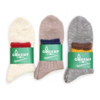 GO HEMP (ゴーヘンプ) HEMP SLUB 2LNE QUARTER SOCKS (ANONYMOUSISM)(アノニマスイズム)