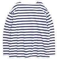 melple(メイプル) バスク9分袖 (ホワイトロイヤル)(バスクシャツ)
