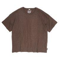 GO HEMP(ゴーヘンプ) WIDE S/SL TEE (コーヒーブラウン)(ワイド ショートスリーブ TEE)(Tシャツ)