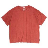 GO HEMP(ゴーヘンプ) WIDE S/SL TEE (ポピーレッド)(ワイド ショートスリーブ TEE)(Tシャツ)