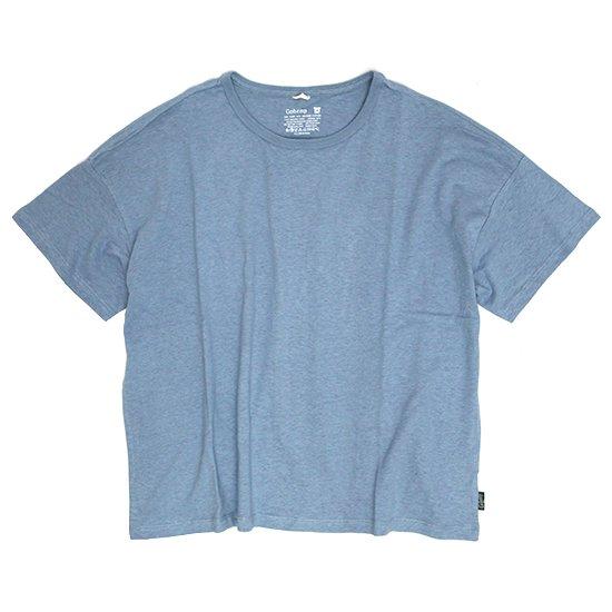GO HEMP(ゴーヘンプ) WIDE S/SL TEE (スカイブルー)(ワイド ショートスリーブ TEE)(Tシャツ)