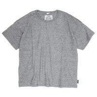 GO HEMP(ゴーヘンプ) WIDE S/SL TEE (ブラックヘザー)(ワイド ショートスリーブ TEE)(Tシャツ)