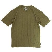 GO HEMP(ゴーヘンプ) MUSA TEE (オリーブグリーン)(ムサTEE)(Tシャツ)