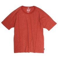 GO HEMP(ゴーヘンプ) MUSA TEE (ポピーレッド)(ムサTEE)(Tシャツ)