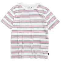GO HEMP(ゴーヘンプ) BORDER PRINT S/SL TEE (ネイビー)(ショートスリーブ TEE)(Tシャツ)
