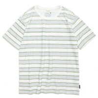 GO HEMP(ゴーヘンプ) BORDER PRINT S/SL TEE (グリーン)(ショートスリーブ TEE)(Tシャツ)