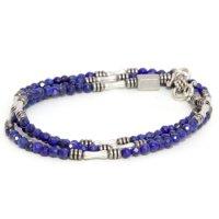 hobo(ホーボー) Stone Bracelet with Brass Coated Beads (ネイビー)(ブレスレット)(ラピスラズリ)