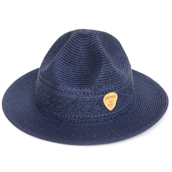 GO HEMP(ゴーヘンプ) CABLE MOUNTAIN HAT (ネイビー)(マウンテンハット)(ペーパーハット)