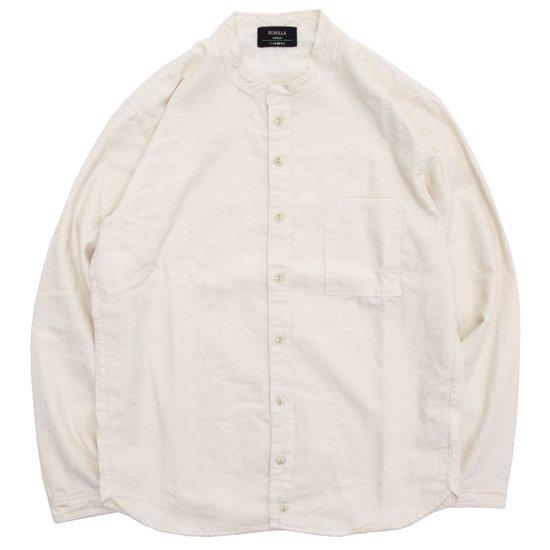 remilla(レミーラ) タゴシャツ (ナチュラル)(スタンドカラーシャツ)(バンドカラーシャツ)