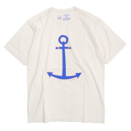 rulezpeeps(ルールズピープス) ANCHOR TEE (ナチュラル)(オーガニックコットン)(Tシャツ)(プリントTEE)
