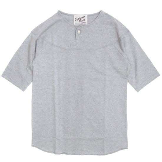 SPINNER BAIT(スピナーベイト) トップ天竺 コンチョ S/S TEE (グレー)(Tシャツ)