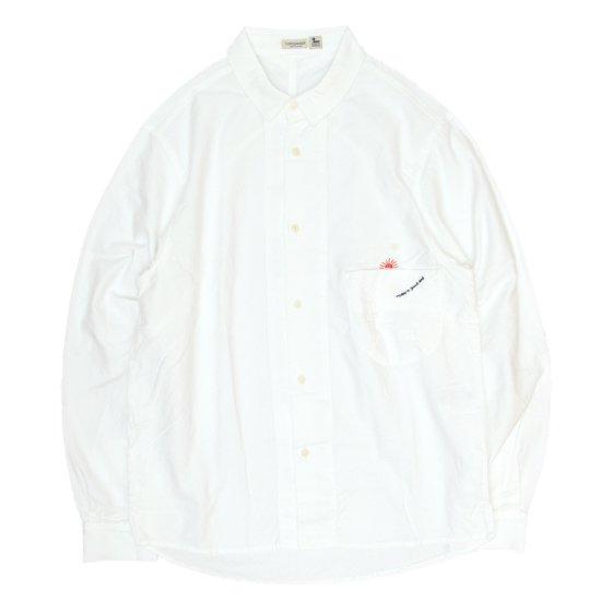 rulezpeeps(ルールズピープス) GOODAY SHIRTS L/S (ホワイト)(グッデイシャツ)(オーガニックコットン)