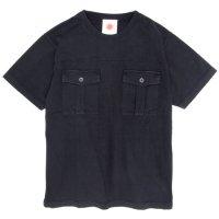Nasngwam(ナスングワム) FATIGUE TEE (ブラック)(ファティーグTEE)(Tシャツ)(両胸ポケTEE)