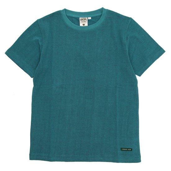 A HOPE HEMP(アホープヘンプ) Regular S/S Tee (プラントブルー)(Tシャツ)(無地TEE)