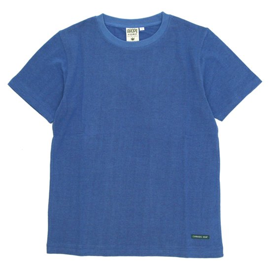 A HOPE HEMP(アホープヘンプ) Regular S/S Tee (インディゴ)(Tシャツ)(無地TEE)