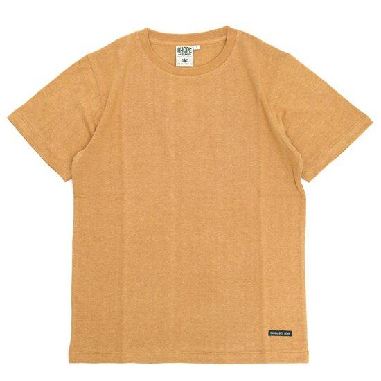 A HOPE HEMP(アホープヘンプ) Regular S/S Tee (デザートムーン)(Tシャツ)(無地TEE)