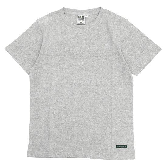 A HOPE HEMP(アホープヘンプ) Regular S/S Tee (アッシュドグレイ)(Tシャツ)(無地TEE)