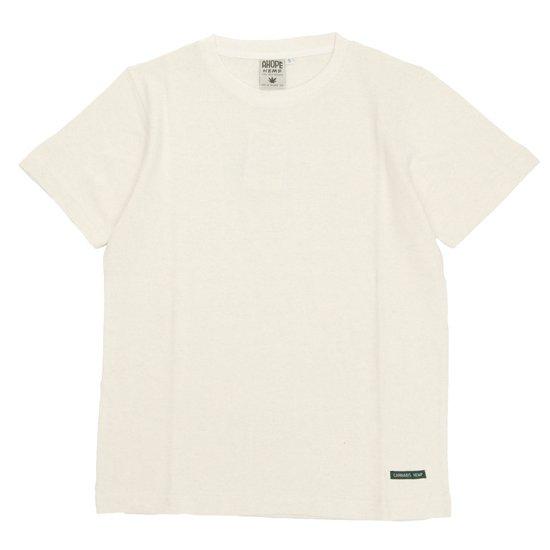 A HOPE HEMP(アホープヘンプ) Regular S/S Tee (ナチュラル)(Tシャツ)(無地TEE)