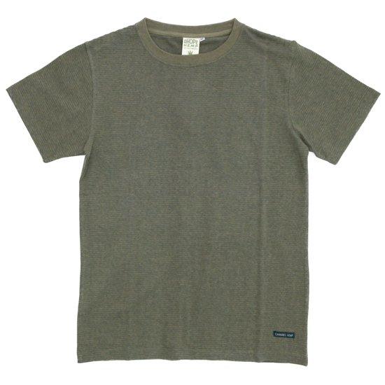 A HOPE HEMP(アホープヘンプ) Regular Stripe S/S Tee (ラットセージ)(Tシャツ)(ストライプTEE)