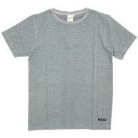 A HOPE HEMP(アホープヘンプ) Regular Stripe S/S Tee (アッシュドグレイ)(Tシャツ)(ストライプTEE)