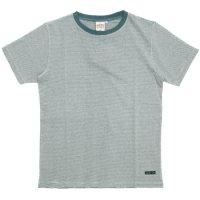 A HOPE HEMP(アホープヘンプ) Regular Stripe S/S Tee (ナチュラル)(Tシャツ)(ストライプTEE)