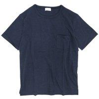 SPINNER BAIT(スピナーベイト) ガラガラ天竺 S/S ポケットTEE (ネイビー)(Tシャツ)(ガラガラ紡)