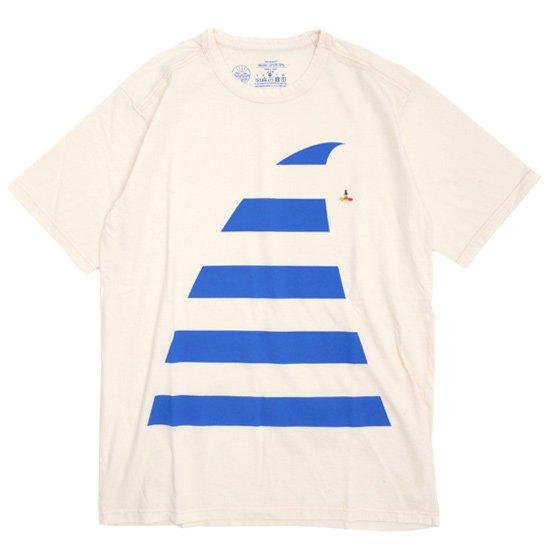 rulezpeeps(ルールズピープス) BIG WAVE TEE (ナチュラル)(オーガニックコットン)(Tシャツ)(プリントTEE)