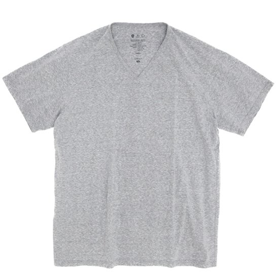 remilla(レミーラ) マーブルVネック TEE (グレイ杢)(Tシャツ)(無地TEE)