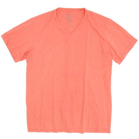 remilla(レミーラ) マーブルVネック TEE (オレンジ杢)(Tシャツ)(無地TEE)