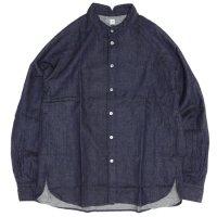 HiHiHi(ひひひ) ゴデシャツ (デニム)(スタンドカラーシャツ)