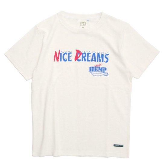 A HOPE HEMP(アホープヘンプ) Ice Cream S/S Tee (ナチュラル)(Tシャツ)(プリントTEE)