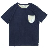 GO HEMP(ゴーヘンプ) TYE DYE MULTI S/SL TEE (マリンネイビー)(ショートスリーブ TEE)(Tシャツ)