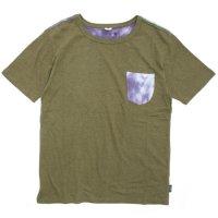 GO HEMP(ゴーヘンプ) TYE DYE MULTI S/SL TEE (オリーブグリーン)(ショートスリーブ TEE)(Tシャツ)