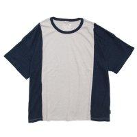 GO HEMP(ゴーヘンプ) COMBI MULTI WIDE S/SL TEE (ソフトグレイ)(ワイド ショートスリーブ TEE)(Tシャツ)