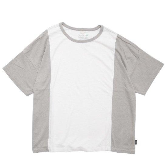 GO HEMP(ゴーヘンプ) COMBI MULTI WIDE S/SL TEE (ナチュラル)(ワイド ショートスリーブ TEE)(Tシャツ)