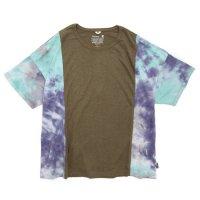GO HEMP(ゴーヘンプ) TYE DYE MULTI WIDE S/SL TEE (オリーブグリーン)(ワイド ショートスリーブ TEE)(Tシャツ)